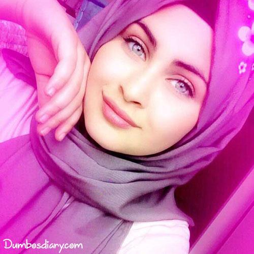 Hijabi Girl Drinking Water Cartoon