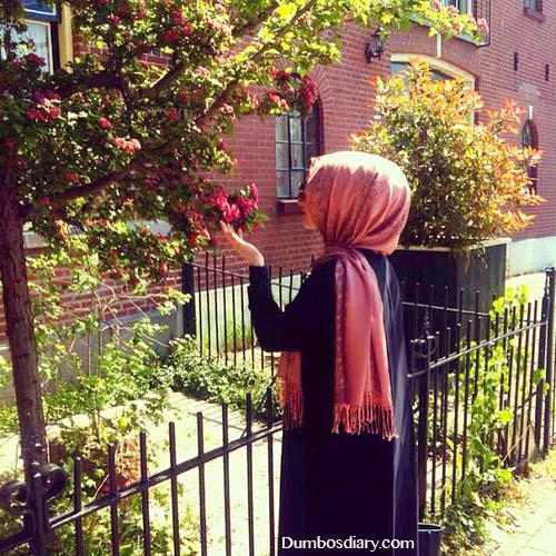 pink hijab beautiful girl