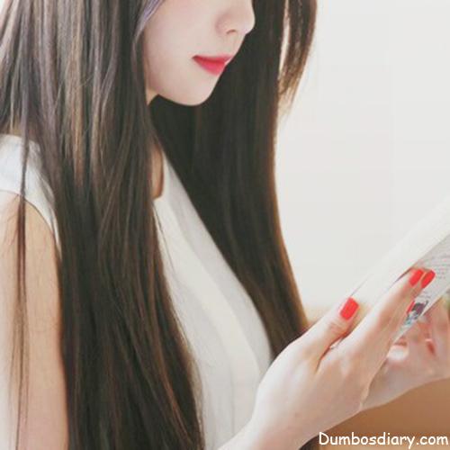 Pretty Girl With Mobile Hidden Face