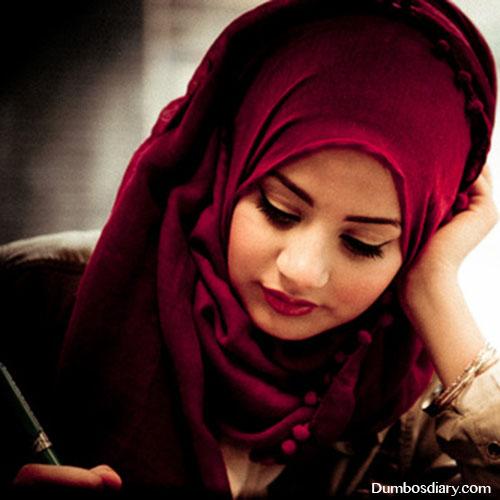 Muslim Girl Love Wallpaper : red arab hijab girly dp