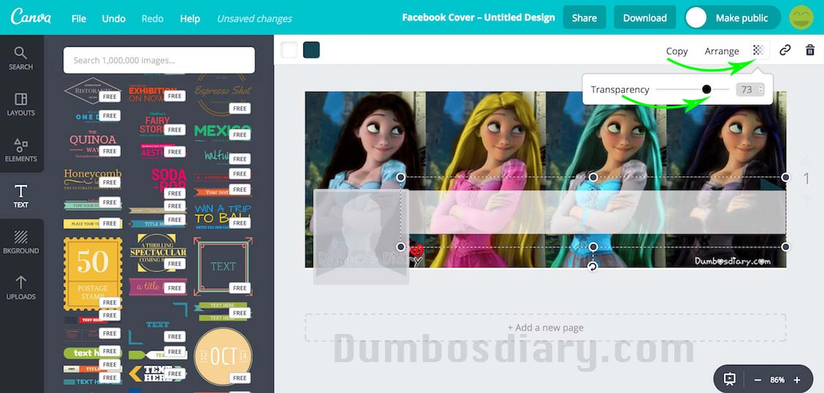 Use Canva to design cover photos online for Social Media