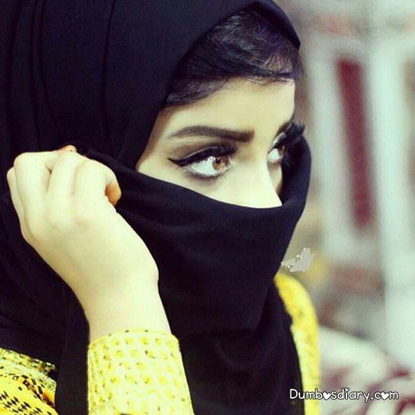 DPs of Stylish, Hiding Face, Hijabi Muslim Girl With Niqab