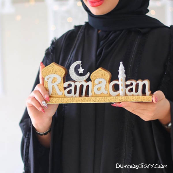 A Girl In Black Hijab In Ramadan