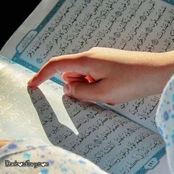 Girl Reading Quran In Ramadan
